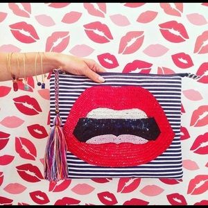 Handbags - Sequin Lip 👄 Tassel Clutch bag